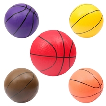 PUZZLE GARDEN 1Pcs Children Funny 9Inch Mini Basketball Kid's Safe Inflator Toys Boy's Outdoor Colorful PVC Ball Color Random