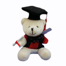 10 pcs/lot, 10cm plush graduation teddy bear keychain, stuffed graduation teddy bear