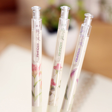 0.5mm Cute Kawaii Plastic Mechanical Pencil Flower Automatic Pens Office School Supplies Korean Stationery Free Shipping 562