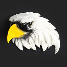 Creative Wall Decor Eagle Head Eagle Figurine Decorative Hanging Resin Hawk Statue TV Background Christmas Gift