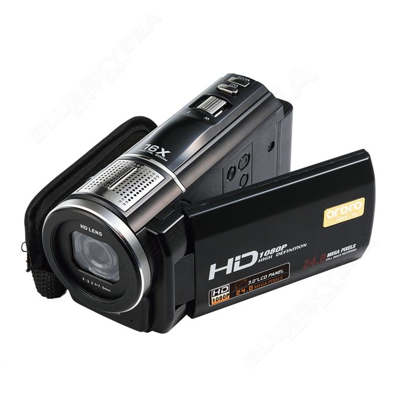 """ORDRO HDV-F5 1080P Digital Video Camera Max 24MP 16X Anti-shake 3.0"""" Touch Screen LCD Camcorder DV With Remote Controller 12"""