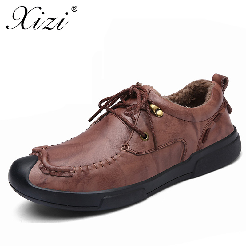 XIZI Handmade 2017 Casual Male Shoes Adult For Men Ons Genuine Leather Breathable oxford  Mens Soft Quality Comfortable Footwear<br>