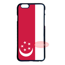 New Singapore Flag Cover Case for LG iPhone 4 4S 5 5S 5C 6 6S 7 Plus iPod 5 6 Samsung Note 2 3 4 5 S3 S4 S5 Mini S6 S7 Edge Plus