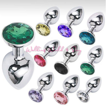 Buy Unisex Stainless Steel Anal Butt Plug Metal Plated Jewelry Sex Stopper Anal Toys G-Spot Anus Insert Adult Anal Sex Toys 7X3CM