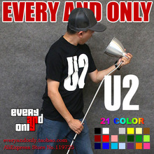 U2 Alternative rock Band Logo 100% cotton clothing casual printed tee t-shirt tee t