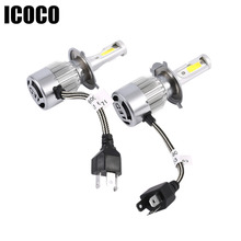 ICOCO 110W 12000LM C9 H4 LED Bulb Headlight Kit H7 9004 9007 9012 9005 White 6000K Fog Lamps LED High Power Bulb Car Headlights