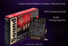 Original 100% Brand new Creative Sound Blaster Audigy 5 internal sound card 7.1 Channels 106dB SNR Dual microphone inputs