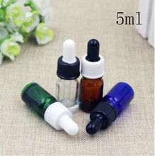 5ml Empty Glass Perfume Pack Dropper Bottles Top Grade Mini Parfume ESSential Oil Sample Packaging Containers Free Shipping