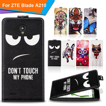 Newest For ZTE Blade A210 Factory Price Luxury Cool Printed Cartoon 100% Special PU Leather Flip case cover,Gift