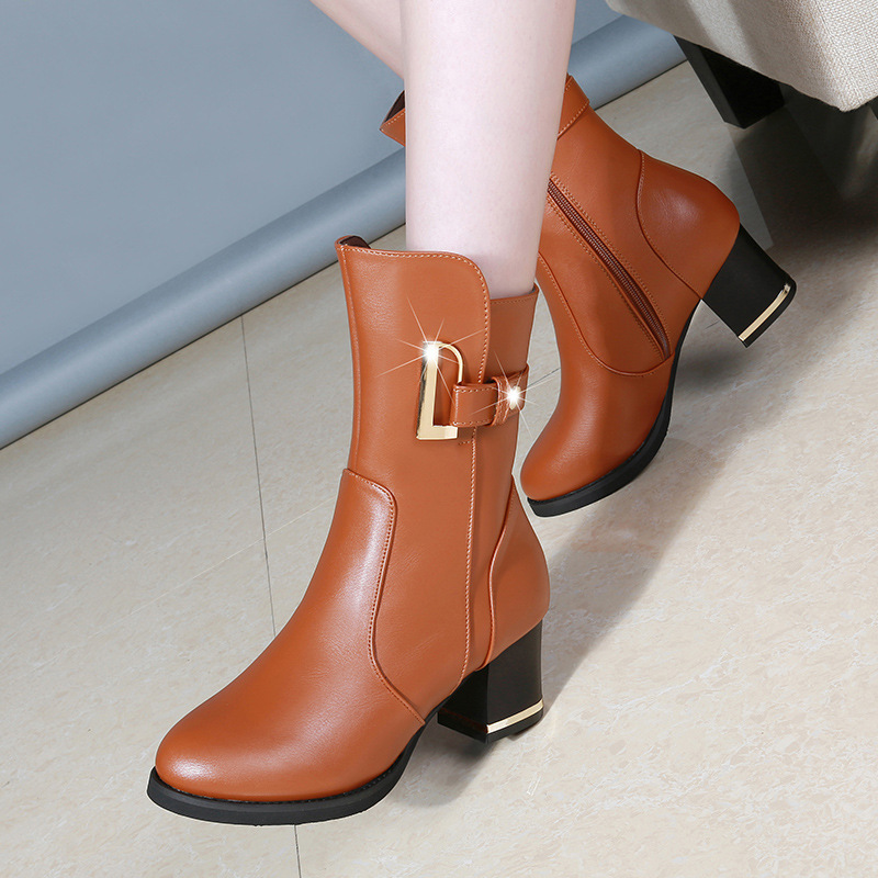 35---40 Big Size Winter And Autumn Womens Shoes, European American Leisure Canister, Fashionable Motorcycle Boots,<br>