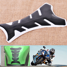 CITALL 1pc Black Motorcycle Tank Pad Fuel Oil Gas Cap Protector Sticker Decal Cover Fish Bone Style Motorcycle Oil Tank Stickers(China)