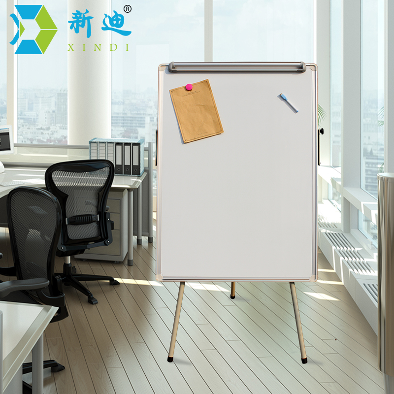 XINDI New 100*70cm Dry Eraser White Board Tripod Magnetic Whiteboard Paper Hanging Clip Drawing Board Factory Directly Sell WB52<br>