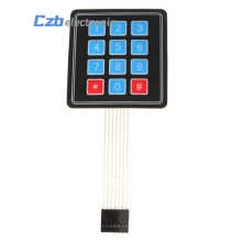 4 * 3 Matrix Array 12 Key Keypad Keyboard Sealed Membrane 4*3 Button Pad with Sticker Switch for Arduino(China)