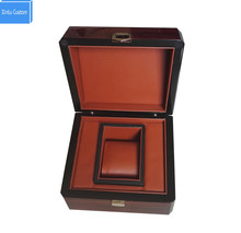 Wooden Stripe Glossy Lacquer Watch Box&Cases Custom Promotion Event Jewelry Gift Business Boxes Custom LOGO Drop Shipping WB1011(China)