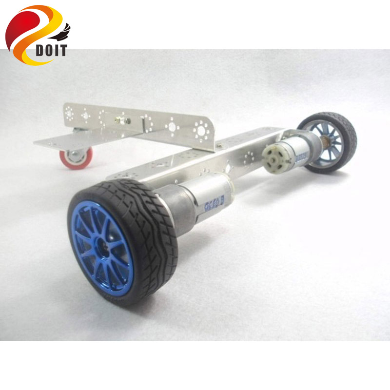 Original DOIT Smart RC Metal Car Chassis Wheel Intelligent Motor Robot DIY RC Toy Mobile Platform Chassis Built Wheeled Car