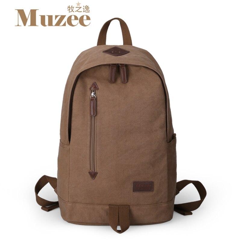Muzee Men Women Backpack for School Teenagers Casual Canvas Backpack School Bags Vintage Bag Female Male Canvas Backpack Mochila<br><br>Aliexpress