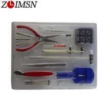 ZLIMSN Watchband Link Remover Tool A Set Repair Table Tool Set Repair Tools & Kits 16 In 1 Opener Tool-Clock Watch Repair Kits(China)
