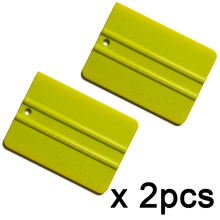 2pcs plastic ice scraper auto window tint film squeegee water wiper Front and rear windshield hand Snow shovels wrap tools 2A38