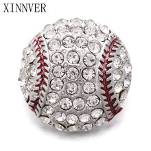 Buy 10pcs/lot Hot Sale Crystal Baseball Snaps Button Fit 18mm Metal Snap Buttons Jewelry Fashion Charms Bracelets Women for $4.63 in AliExpress store