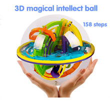3D track maze magical intellect ball 158 steps,Marble Puzzle Brain Teaser Game balance toy,educational&smart classic toy IQ ball
