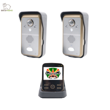 BearHoHo Video Door Phone Wireless 2 Door cameras 1 Monitor 2 Way Audio PIR Sensor Wide View Andle (Upgraded Version)