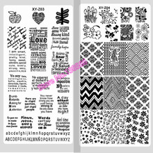 New Assorted Designs Nail Art Metal Plate Image Stamping Plates DIY Manicure Printing Template Plate Tool Nails Beauty 2017 Gift