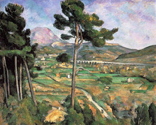 hand-painted oil painting reproduction of Cezanne famous artists painting  canvas  Landscape-with-Viaduct-Mont-Sainte-Victoire