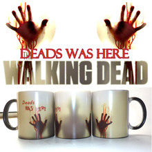 The Walking Dead Mugs Coffee Tea Milk cup Hot Cold Heat Sensitive Color changing Ceramic Mug(China)