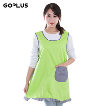 GOPLUS Fashion Sleeveless Kitchen Restaurant Cooking Bib Aprons For Women With Pocket Work Apron Kitchen Cook Tool U0868