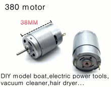 Rs-380 high speed motor,DIY model boat,electric power tools, vacuum cleaner,hair dryer,model aircraft motor High torque