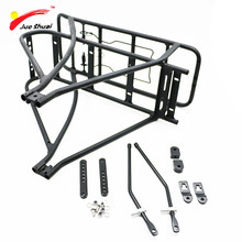 Black 26inch 28inch 700C Bike Luggage Rack  Double Layer Bicycle Battery Rear Carrier Adjustable Heavy Duty Bike Hanger