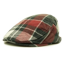 CLIMAT Fashion British Checked Plaid Style Men Woven Berets Flat Caps Hats Jacquard for Adult Women Men Unisex Adjustable(China)