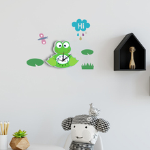 Funlife 3D Animal Wall Clock Frog Pattern Silent Quartz Clock Movement Easy to Read Home/Office/School Clock SWC007(China)