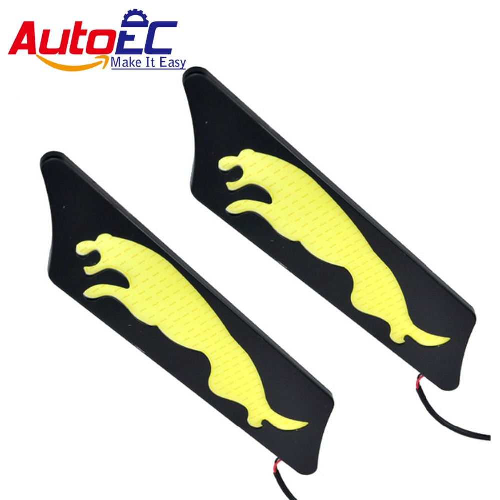 AutoEC LED COB Daytime Running Light high quality Aluminum Cheetah shape DRL Universal #LM140<br><br>Aliexpress