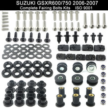 For Suzuki GSXR600 GSXR 750 GSX-R600 GSX-R750 2006 2007 Motorcycle Full Fairing Spring Bolts Kit Stainless Steel Fairing Clips(China)