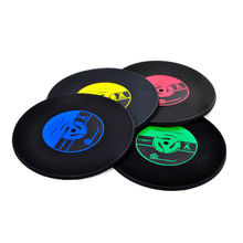Home Table Cup Mat Creative Decor Coffee Drink Placemat Tableware Spinning Retro Vinyl CD Record Drinks Coasters