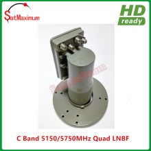 LNBF C band quad output with L.O frequency 5150/5750MHz for satellite tv watching(China)