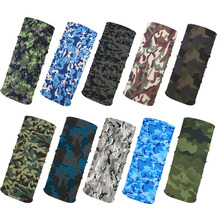 Novelty Bicycle Biker Camo Bandanas Scarf  Seamless Bandanas Headwear  Scarf Magic Headband Neck Tube Face Mask Wrap 10PCS