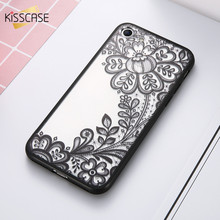 KISSCASE Phone Case For iPhone 7 Plus iPhone 5S Case Luxury Girly Lace Flowers TPU Cover For iPhone 7 iPhone 6 Plus Case(China)