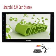 2 Din Head Unit Android 6.0 GPS Navigation Car Stereo Audio Radio 1080P Video Player Wifi FM/AM RDS SWC External Mic+Back Camera