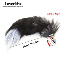 Buy Loverkiss Fox Tail Anal Plug Adult Games Couples,Metal Anus Pleasure Bead Butt Plug,Fetish Sex Products Flirt Toys Women