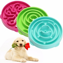 Top Selling Pet Dog Cat Interactive Slow Food Bowl Anti Slip Gulp Feeder Healthy Bloat Dish For Pet Feeding Tools 1Pc(China)