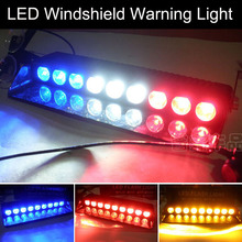 car-styling 9 LED Windshield Warning Light Viper Car Flashing Strobe Lightbar Police Lights Truck Beacons Emergency Signal lamp