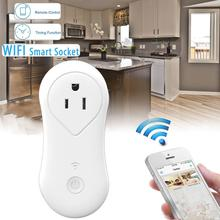 US Plug AC 100-250V Wireless Remote Control Timer Timing Switch WiFi Smart Power Socket Outlet Plug One USB charging port 5V/1A