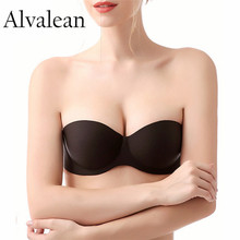 Alvalean Push up bras sexy women strapless Invisible bra underwire 1/2 cup seamless bra lingerie underwear brassiere Plus Size(China)