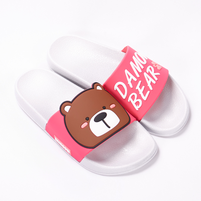 Cartoon Women Summer Slippers Cute Damon Bear Soft Sole Slides Home Slippers Indoor & Outdoor Sandals Women Shoes Flip Flops 15