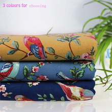 145cm*50cm1pc Japanese Cloth Cotton/linen Fabric Telas Patchwork ,Flowers/Birds Printed Fabric DIY Sewing Clothing Home Cloth(China)