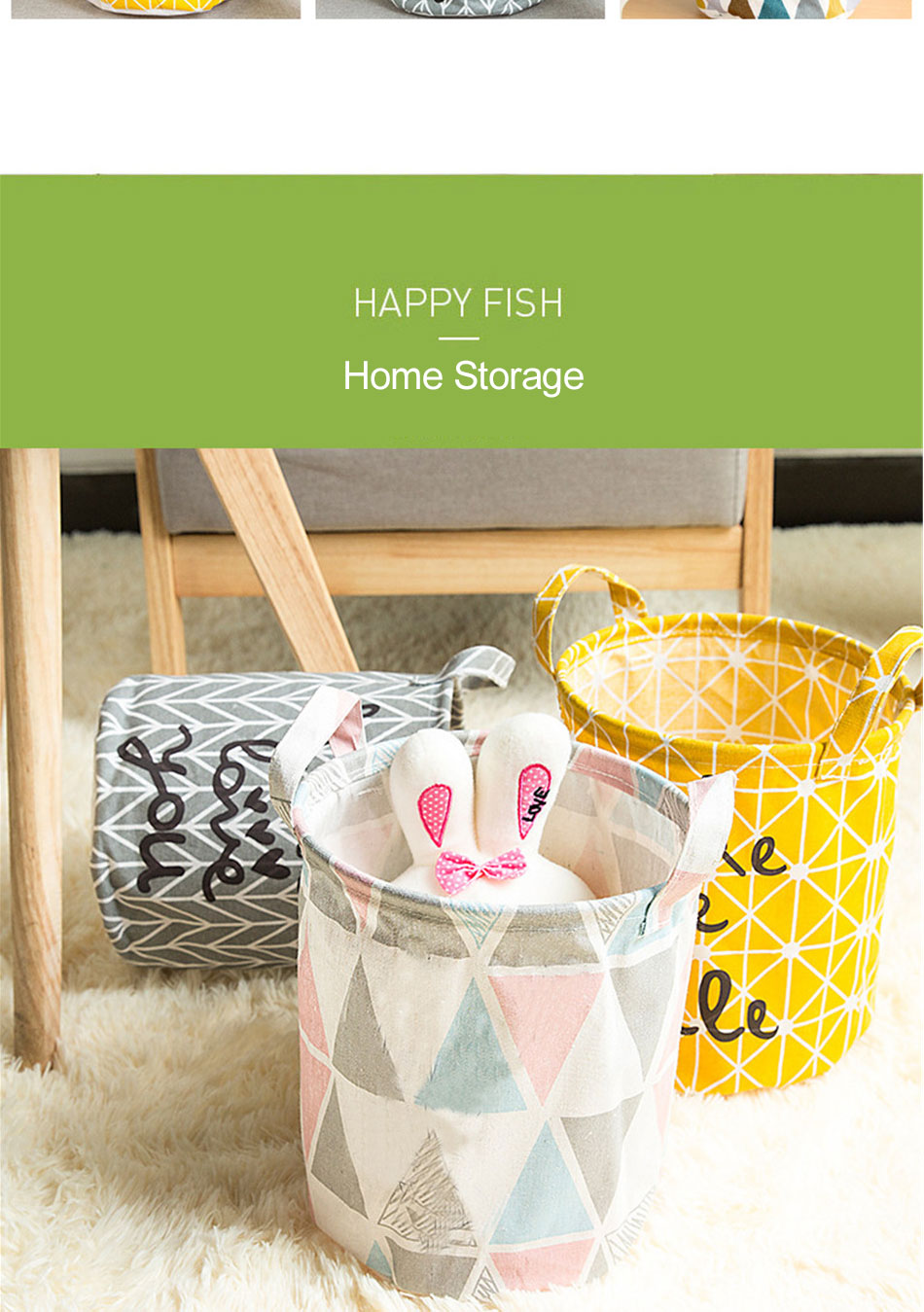 Storage Baskets Folding Laundry Basket Yellow Arrow Couple Linen Washing Clothes Barrel Bags With Handles Kids Toys Hamper Bag (4)