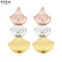 KITEAL Hot Selling Gold color earrings for female big gold jewelry oorbellen Jewelry European Style(China)