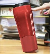 Water Bottle Creative 530ml Suction At The Bottom Not Pour Smartgrip Portable Waterfles For Office Coffee Milk Tea Friend Gift(China)